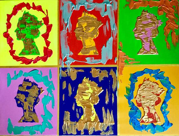 Queen inspired by Andy Warhol #2 by Olga  Koval