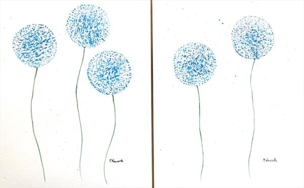 Blue flowers set nr 2 (9x12) by Monika Howarth