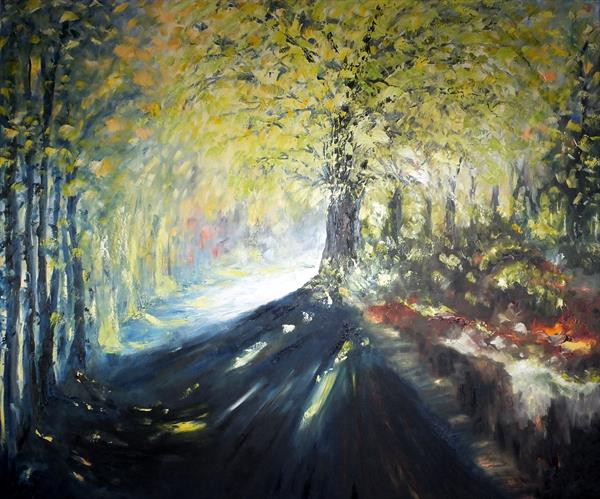 Atmospheric Perspective (Very Large Panoramic) by Hester Coetzee
