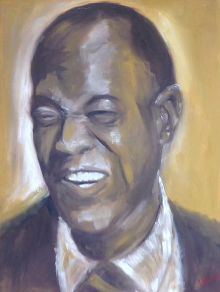 Louis Armstrong-Wonderful World by Lisa Bowyer