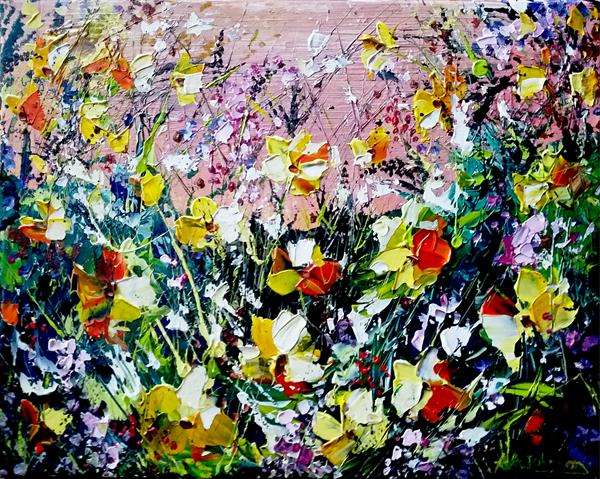 Florals - Hello Yellow by Andrew Alan Johnson