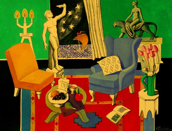 Interior With Bacchus and Ariadne by Paul Rossi