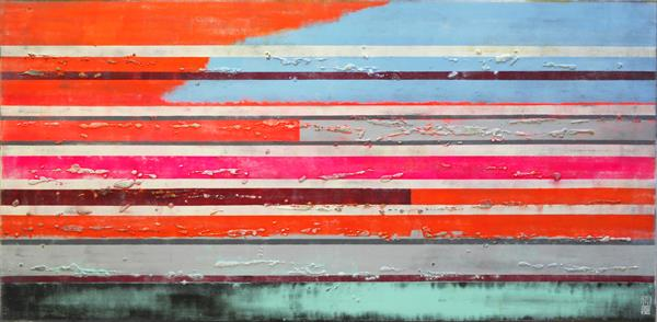 Neon Pop Striped Colors XL by Ronald Hunter