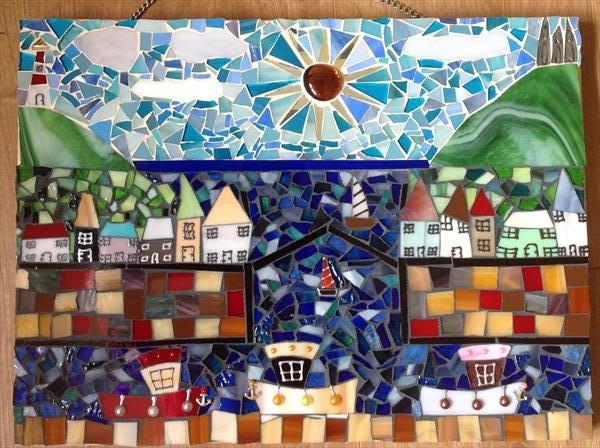 Harbour Town Glass Mosaic by Julie Stevenson