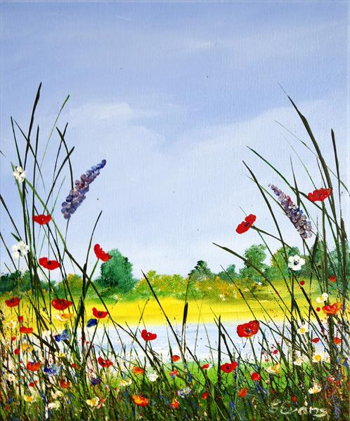 WILD FLOWERS ON THE RIVERBANK by Graham Evans