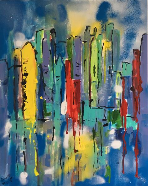 Abstract skyline by Nineke Havinga