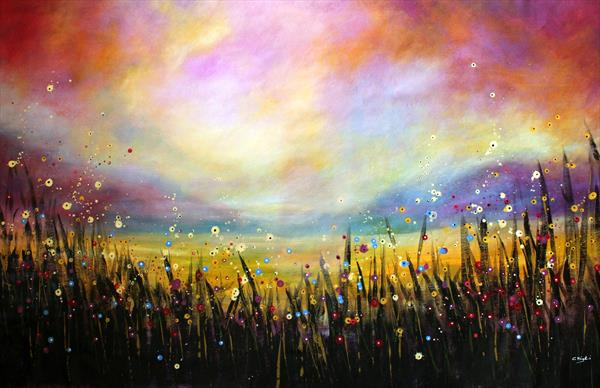 Believer - Large original landscape painting by Cecilia Frigati