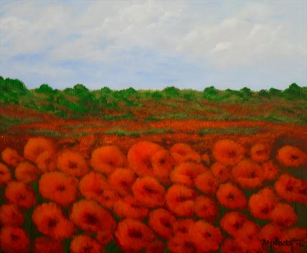 Frilly Poppies by Brenda Newton