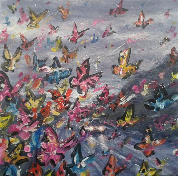 Image result for coast butterflies painting