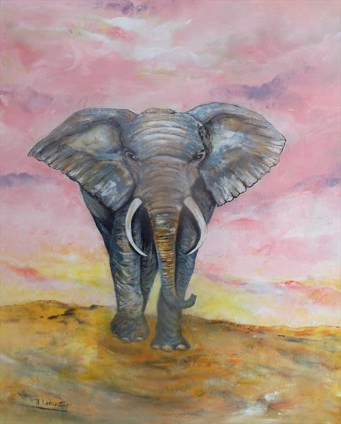 African bull elephant by James Lancaster