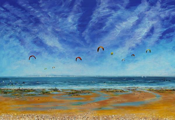 Kites and Sails in the Solent by Sandra Francis