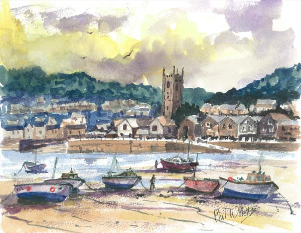 St Ives water colour by Phil Willetts