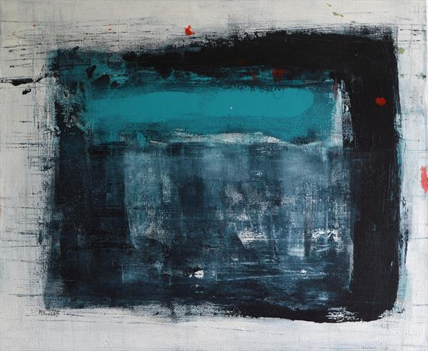Abstract with turquoise by Milena Blaziak Cooke