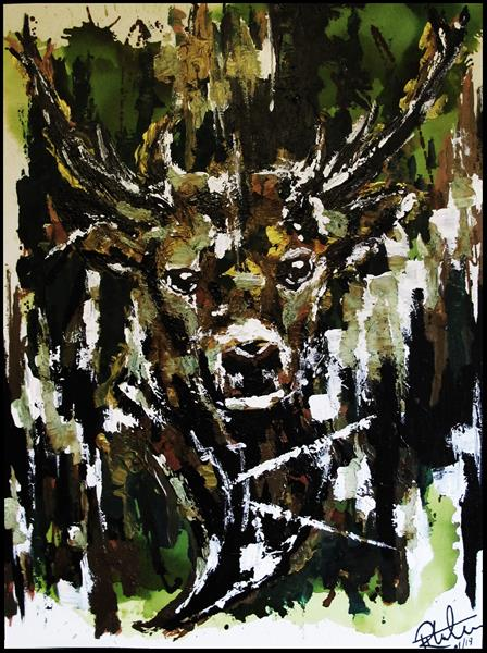 Watching Stag by Rob Thornham