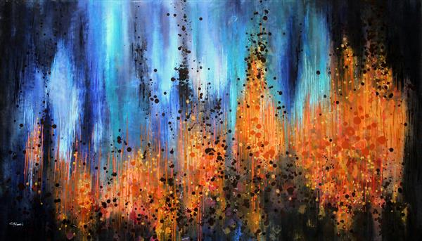 The Unseen - Large original abstract painting  by Cecilia Frigati