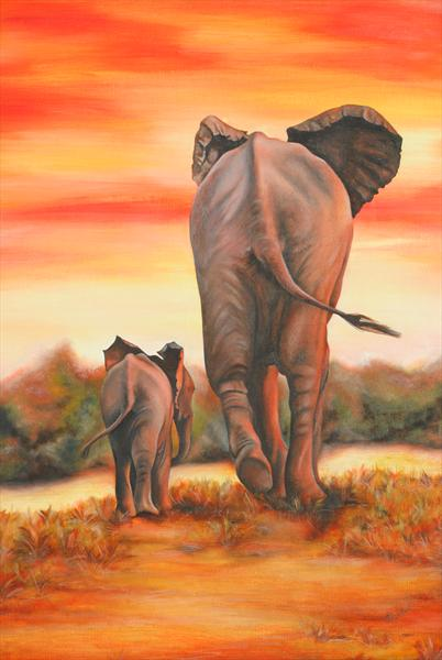 Elephants  by Amanda Coupland