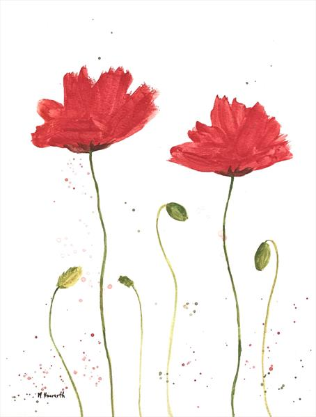 Delightful Red poppies  by Monika Howarth