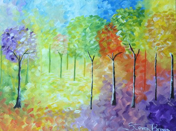 Trees in spring  by Steven Brown