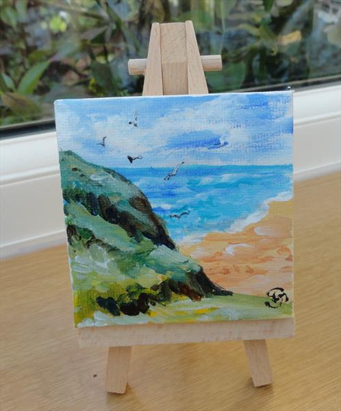 Cliff tops at Clachtoll by Sue Spence