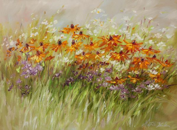 Morning meadow by Margaret Raven