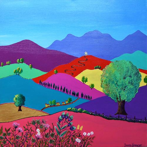Les Collines d'Ete (The Hills of Summer) by Sara Spencer