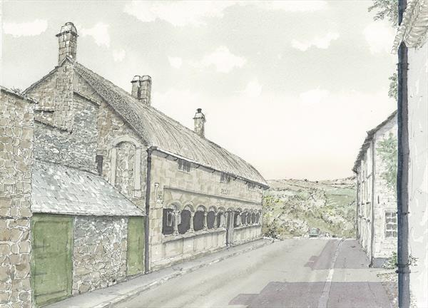 Almshouses, Moretonhampstead by Peter Blake