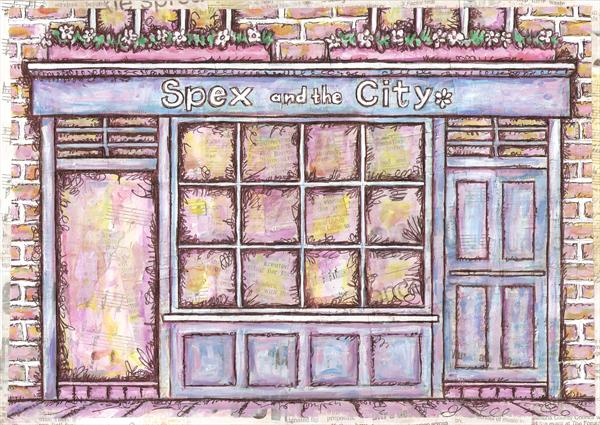 Spex and the City Shop Front by Ruth Bilham