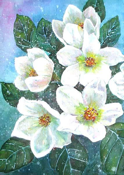 Christmas Roses by Maureen Crofts