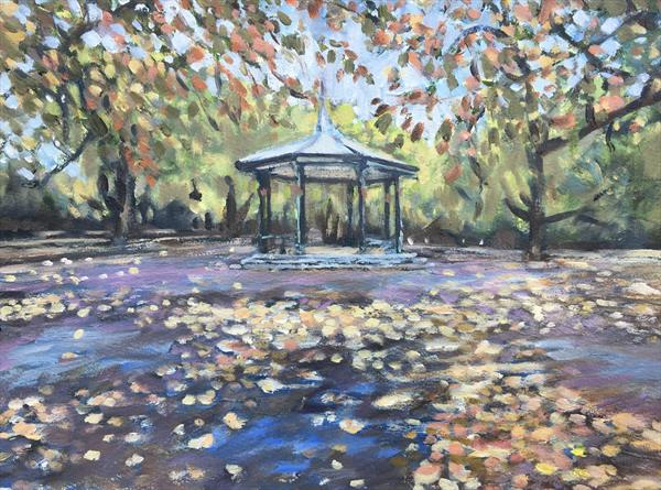 Battersea Park Autumn by Louise Gillard