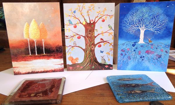 Individual or set of 3 Greetings Cards by Jean Tatton Jones