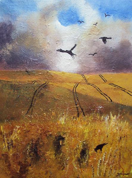 Storm over Cornfield by Teresa Tanner