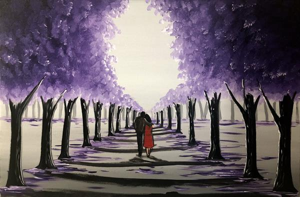 Purple Tree Walk 3 by Aisha Haider