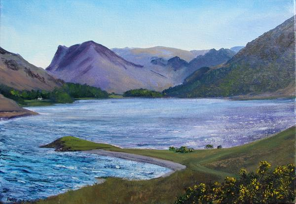 Crummock Water, plein air sketch 13/5/16 by Peter Brook