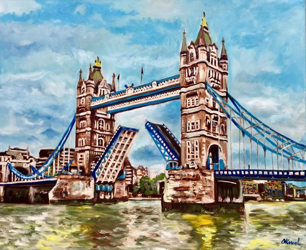 Tower bridge. London original painting.  by Olga  Koval