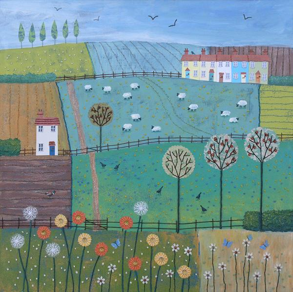 Patchwork Fields by Josephine Grundy