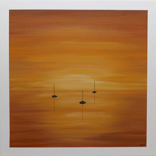 Sailing Boats at Sunset by Jacqueline Moore