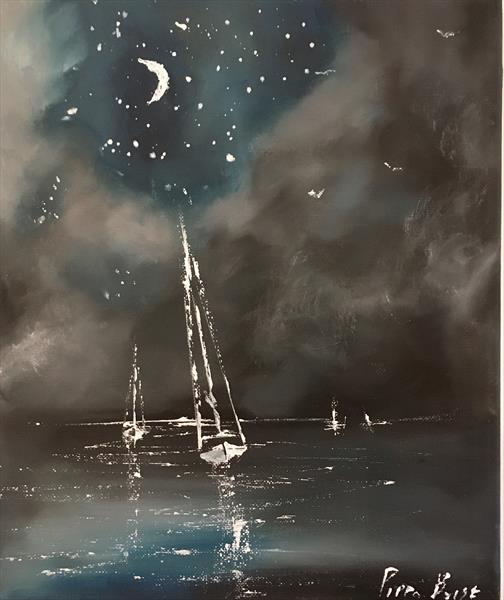 Little night time sail by Pippa Buist