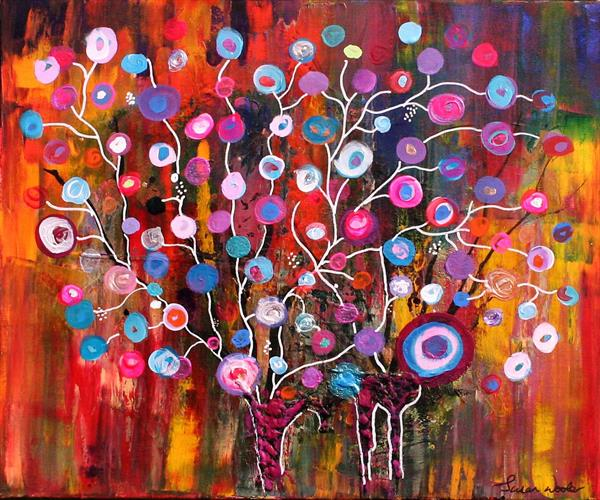 Colourful Trees by susan wooler