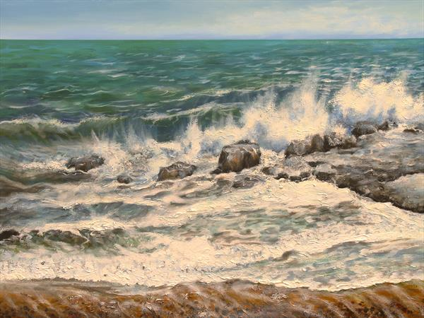 Waves on the Rocks by Sandra Francis