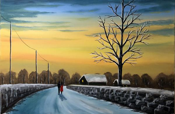 Winter Sunset Walk by Aisha Haider