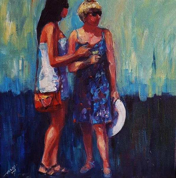 Ladies chatting by Arti Chauhan