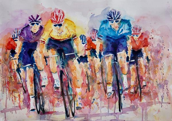 Cycle Racing LARGE A2 size
