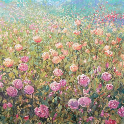Rose Garden (On Display At the Art Gallery, Tetbury) by Mariusz Kaldowski