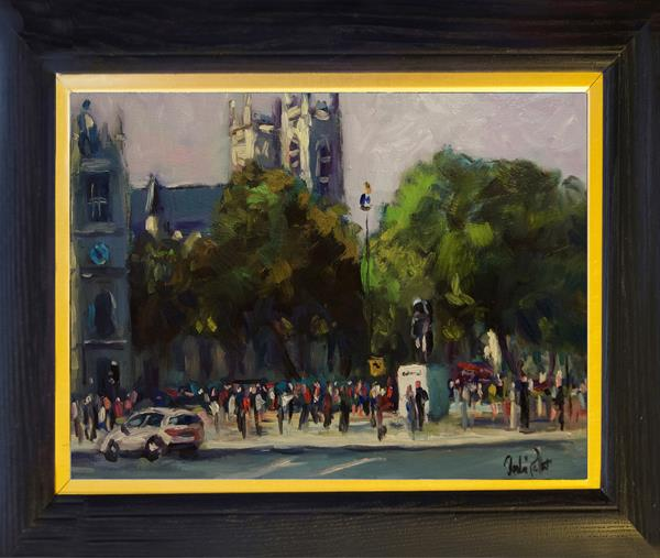 'Churchill' and Westminster Abbey by Andre Pallat