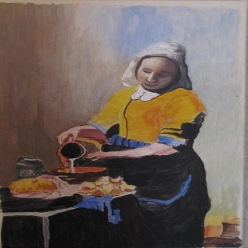 My version of Vermeer's 'Milk Maid' by Janet Roberts