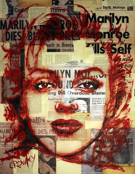 Marilyn Monroe (ghostly image, pop art) by darren crowley