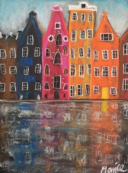 Canal houses  by cheryl Morrice