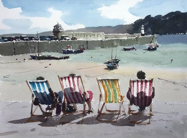 Smeatons Pier (St Ives Cornwall) by Ken  Hayes