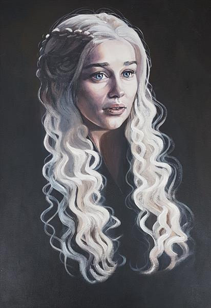 Daenerys Dragon Queen by Shirley Wright