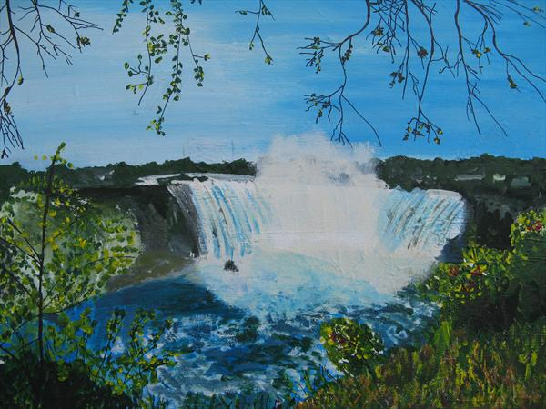Niagara Falls From Opposite Bank by Richard C Taylor